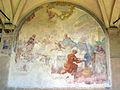 Chiostro grande di smn, lato est 10 antonio pillori, s. tommaso d'aquino alla mensa di re luigi IX, 1750 ca..JPG