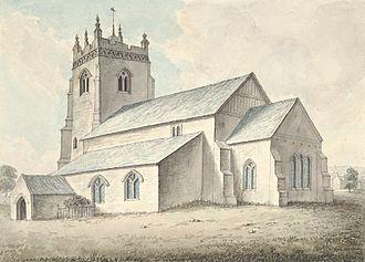 Chirbury - Chirbury church in 1795