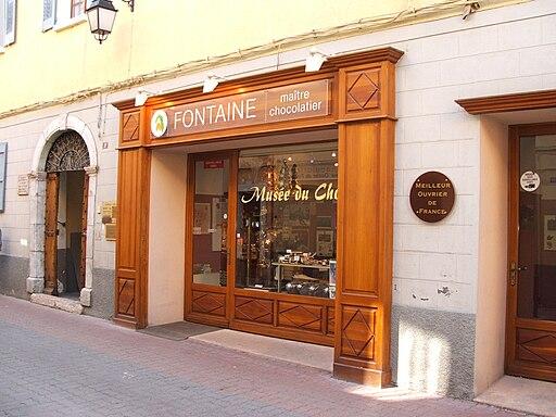 Chocolate shop, Barcelonnette, Alpes-de-Haute-Provence, France