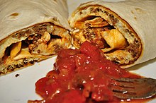 Chorizo and egg burrito with salsa.jpg