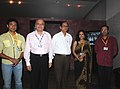 Chowdhury Mohan Jatua with the Director, Directorate of Film Festivals, Shri S.M. Khan and renowned actress Indrani Halder, during the 40th International Film Festival (IFFI-2009), at Panaji, Goa on November 25, 2009.jpg