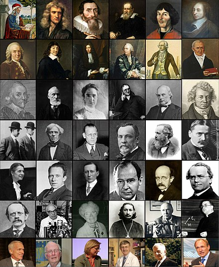 Set of pictures for a number of notable Christian scientists and Inventors. Christian Scientists and Inventors Mosaic.jpg