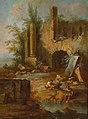 Christian Wilhelm Ernst Dietrich, gen. Dietricy - Landschaft mit zwei Männern vor römischen Ruinen.jpg