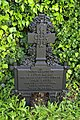 Church of St Christopher, Willingale, Essex, England - exterior iron grave marker at west churchyard.JPG