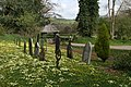 Churchyard and lych gate in the primroses, Tigley - geograph.org.uk - 1263556.jpg