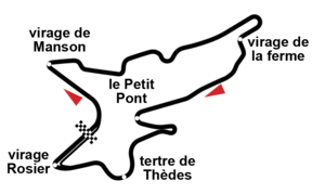 Circuit de Charade - The modern 3.975 km circuit, first used in 1989