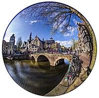 Circular fisheye view of Oude Kerk Amsterdam Daniel D. Teoli Jr..jpg