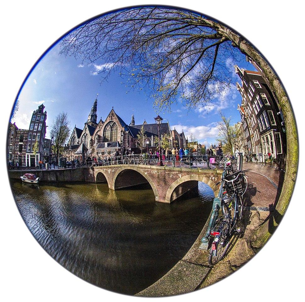Circular fisheye view of Oude Kerk Amsterdam Daniel D. Teoli Jr.