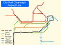 Railway network map.