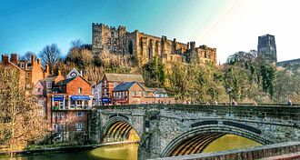University College, Durham - Durham Castle as seen from Framwellgate Bridge.