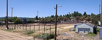 Civic Stadium (Eugene, Oregon) - Image: Civic Stadium Fire 1