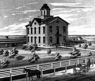 Clark County, Missouri - The Clark County, Missouri courthouse as it appeared circa 1878.