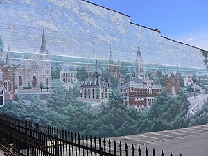 Clarksville, Tennessee - Mural painted on the only remaining wall of a building destroyed by the '99 tornado.