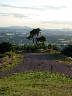 Clent Hills - View from Clent Hill towards the Clee Hills of Shropshire