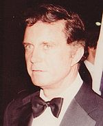 Photo of Cliff Robertson at the Filmex tribute to Elizabeth Taylor in 1981.