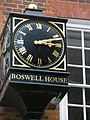 Clock on Boswell House in Gough Square - geograph.org.uk - 885759.jpg