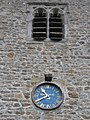 Clock on St Andrew's church tower, Dent - geograph.org.uk - 1378317.jpg