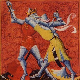 Chlothar II - Clothar slays Bertoald