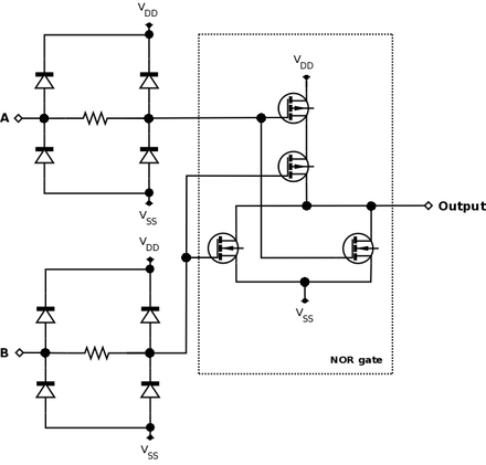 nor gate  wikipedia, circuit diagram
