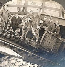 Coal miners in Hazelton, Pennsylvania, 1902