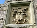 Coat of Arms, above the entrance to the Kers' burial aisle - geograph.org.uk - 1316469.jpg