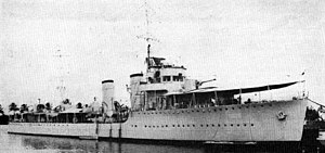 Colombian Navy - Colombian destroyer Caldas in the 1940s