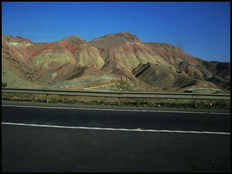 File:Color Mountains, Qazvin-Rasht road, Loshan کوههای الوان نزدیک لوشان - panoramio.jpg