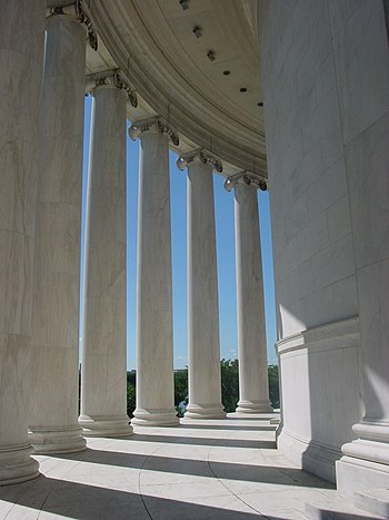Columns around Jefferson Memorial in Washington DC.jpg