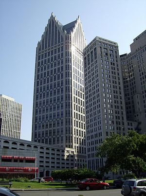 Ally Detroit Center - Image: Comerica Towerand 1stnationaldetroit