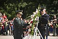 Commanding General Defense Security Command, Republic of Korea, Army Lt. Gen. Hyun Chun Cho, lays a wreath at the Tomb of the Unknown Soldier in Arlington National Cemetery (17459887960).jpg