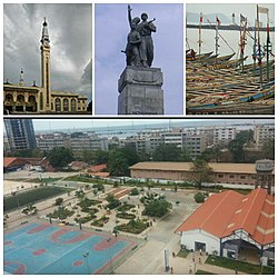 Collage of Conakry's main sights