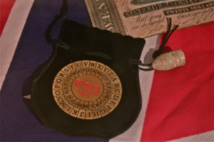 Vigenère cipher - A reproduction of the Confederacy's cipher disk used in the U.S. Civil War on display in the National Cryptologic Museum