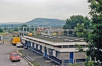 Congleton - Congleton railway station in 1986.
