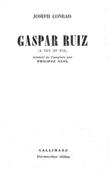 File:Conrad - Gaspar Ruiz, trad. Néel.djvu