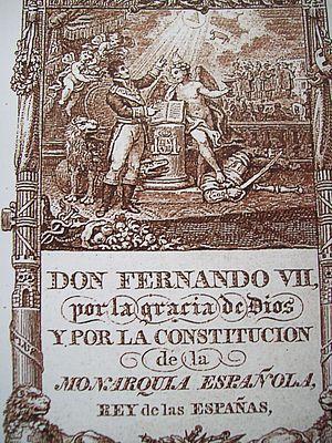 Español: Constitución de Cádiz 1812. Frontipic...