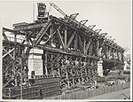 Construction of Span Two of the southern approach to the Sydney Harbour Bridge, 1927 (8282709695).jpg