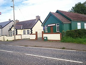 Corcreeny Orange Hall and Gibson's Hill Gospel Hall. - geograph.org.uk - 530557.jpg