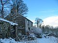 Cottage in the snow, Taddington - geograph.org.uk - 559418.jpg