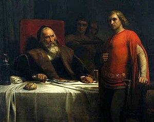 Count Eberhard of Württemberg and his Son