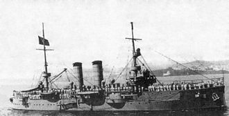 May 14 Revolt - Portuguese Navy cruiser NRP Vasco da Gama, used in the bombardment and support of revolutionary forces in the Tagus River on May 14, 1915