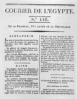 <i>Courrier de lÉgypte</i> newspaper