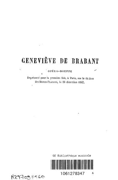 File:Crémieux et Tréfeu, Geneviève de Brabant (1867).djvu