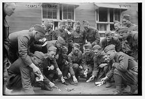 Craps - Craps game at military camp in 1918