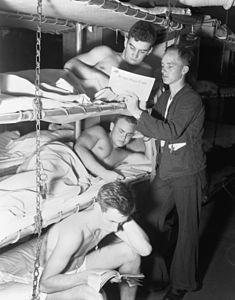 Crewmen on USS Leyte (CV-32) 1950.JPEG