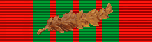 Croix de guerre 1939-1945 with palm (France) - ribbon bar