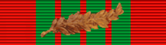 Harry George Armstrong - Image: Croix de guerre 1939 1945 with palm (France) ribbon bar