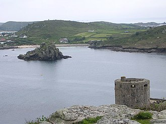 Bryher, Isles of Scilly - Image: Cromwell's Castle, Tresco overlooking Bryher geograph.org.uk 885110