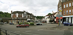 Caterham, the largest town in Tandridge
