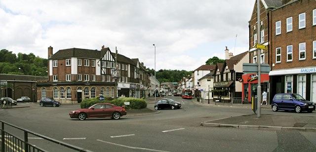 Caterham, the largest town in Tandridge