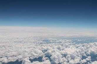 Cumulus cloud - Cumulus clouds seen from above